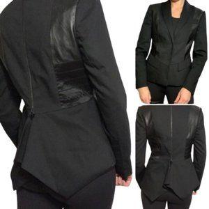 Alice+Olivia Mixed Media Tuxedo Jacket
